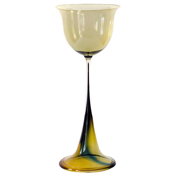 Rare Big Tulip Glass by Nils Landberg for Orrefors, Sweden