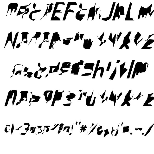 bitstorm ultracondensed oblique Font