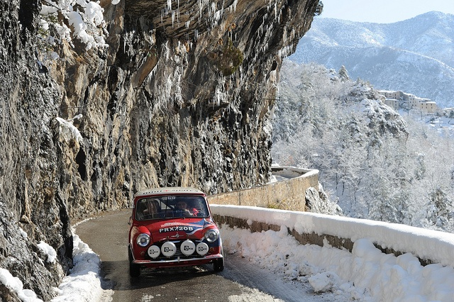 Mini Cooper, Bill Richards & John Morrow, 2012 Monte Carlo Rallye Historique