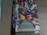 1994 upper deck jerome bettis #135 football card los angeles rams.
