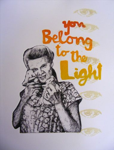 E A Hansen, Light II, 2010, dry point etching, woodcut and pronto plate