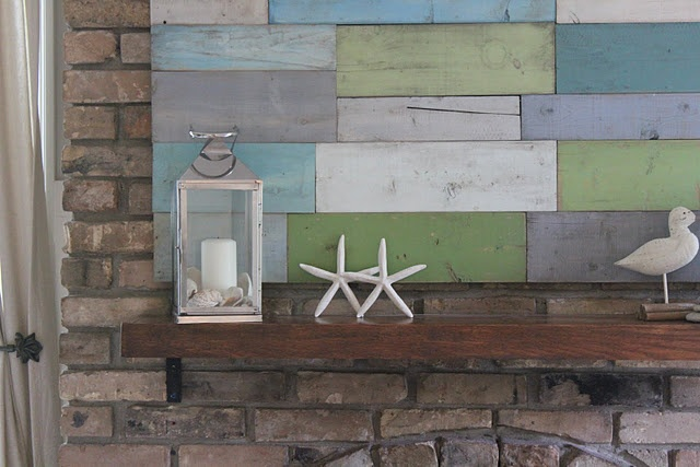 Wall Art from scrap wood & paintWood Art, Wall Hanging, Wood Scrap, Beach Style, Painting Wood, Scrap Wood, Diy Wall Art, Wood Wall, Wooden Walls