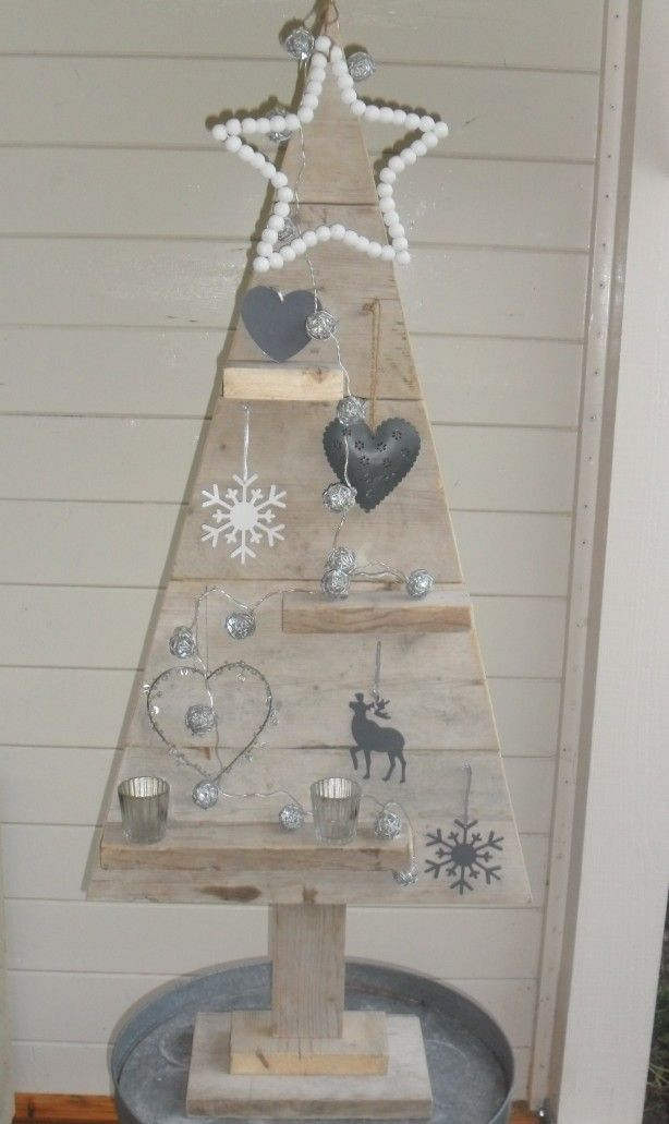 Steigerhouten kerstboom zelf gemaakt!