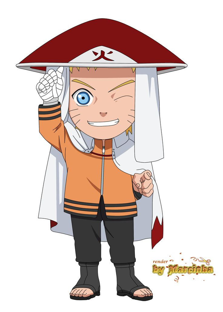 Chibi Naruto Hokage The Last by Marcinha20.deviantart.com on @DeviantArt