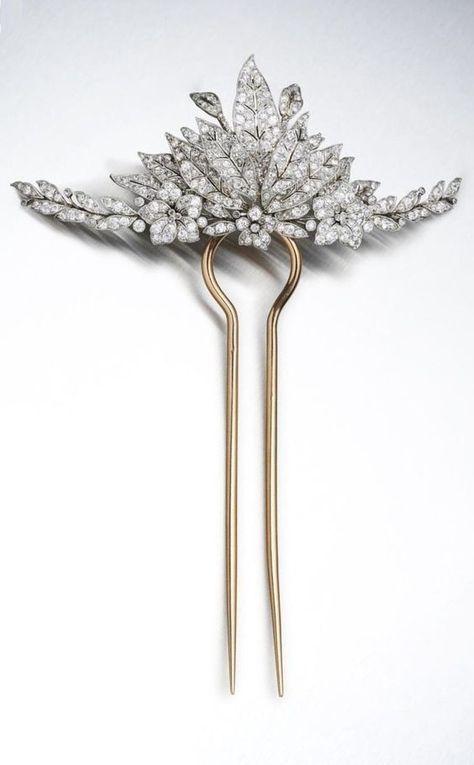 A Belle Epoque platinum, gold and diamond tiara, circa 1915