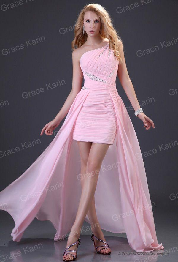 Жатое вечернее розовое платье со шлейфом
