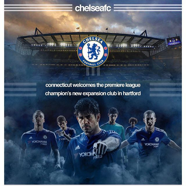 Chelsea F.C. Hartford Expansion Club ePub. This is a school project where I had to create an ePub for an upcoming event. I created an event around a new Chelsea football expansion club, Chelsea F.C.C.T, that would be coming to Hartford, CT. This is also supposed to be a continuous scrolling image (like a website) for an iPad screen. All of the pages were created in Photoshop except for the infographic at the end and all of the logos/vector forms, which were done in Illustrator. #chelsea…