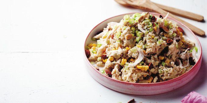 I Quit Sugar: Shredded Chicken Brown Rice Salad recipe by Matt Preston.