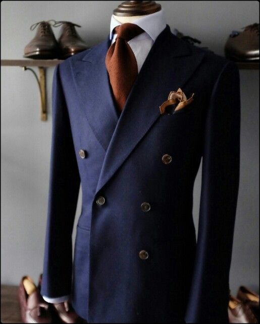 Elegant Double-breasted #suit . Yes, they do look cool, and we can help you with your own in #RichmondBC