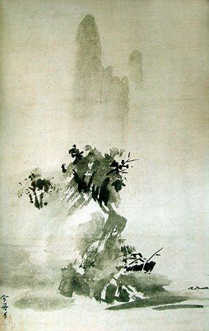 Japanese ink painting in Asuka, Nara, Heian and Kamakura periods - Japanese ink painting history