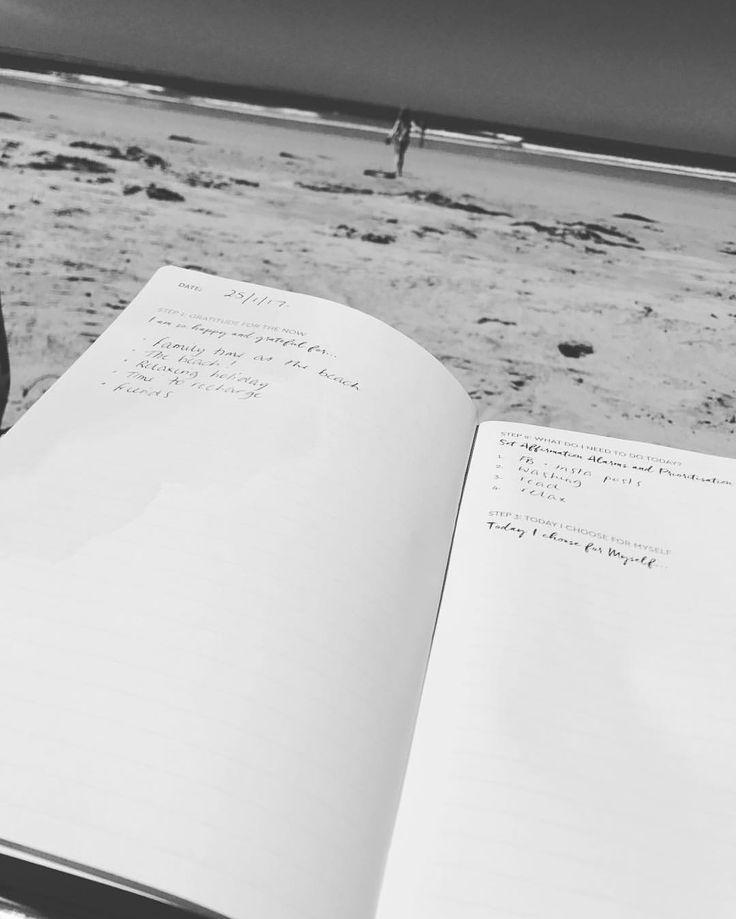 "10 Likes, 1 Comments - Kylie McFarlane (@mindbodymumma) on Instagram: ""No better place to partake in a little pd!!!! #personaldevelopment #beachday #pinksparklybook…"""
