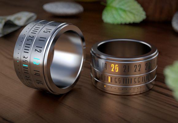 未来がやってきた!数字がクールに光る、洗練された指輪型時計 Ring Clock