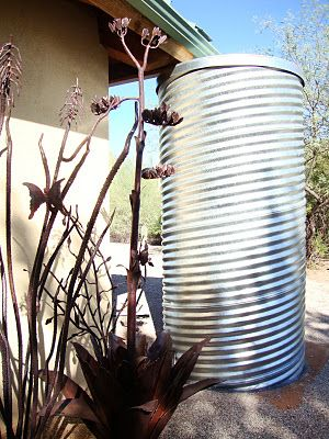 I already have a 15k gal water storage for my well but THIS is what I want for ea downspout on ALL my structures! Galvanized totem!