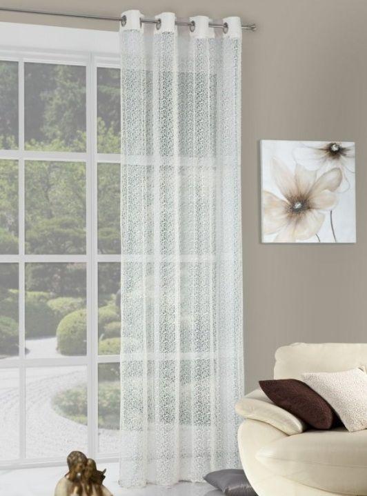 Krémové závesy na okno so vzorom