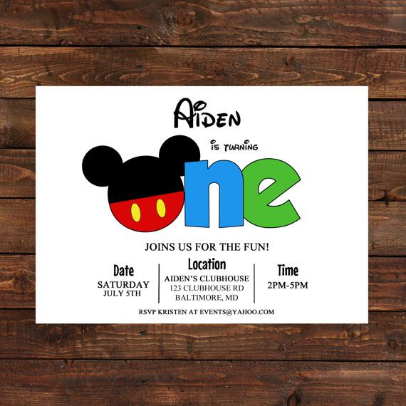 Mickey Mouse Clubhouse  Mickey Mouse or Minnie by LuLuPaperPrints, $7.00
