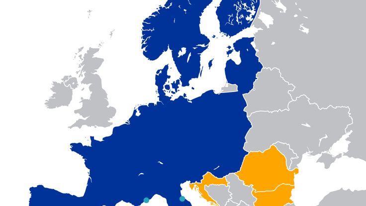 Map of Schengen Area #schengenvisa #traveltips  #schengentravel