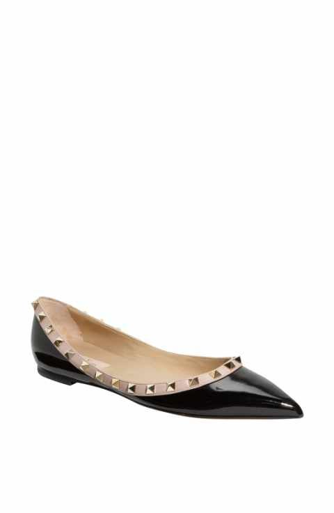 86ce51c66cb8b VALENTINO GARAVANI Rockstud Ballerina Flat (Women)