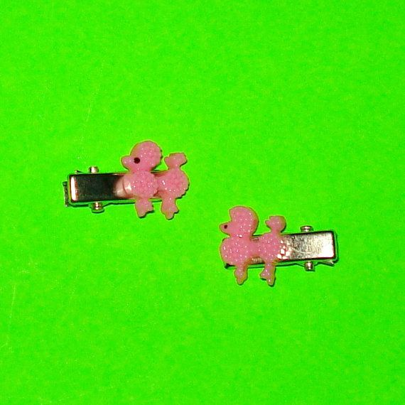 Poodle MiniClips  https://www.etsy.com/ca/listing/248169730/powder-pink-poodle-hair-clips