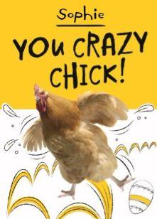 You crazy chick! Verstuur deze grappige paaskaart. #Hallmark #HallmarkNL #Pasen #paasdagen #paashaas #paaseieren #lammetjes #lente #zon #bloemen
