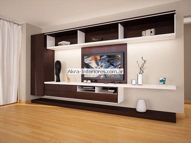 Muebles para lcd centro de entretenimiento pinterest for Modelos de muebles para tv modernos