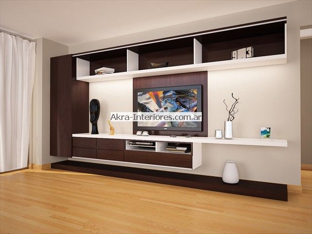 1000 ideas about muebles para lcd on pinterest - Mueble salon minimalista ...