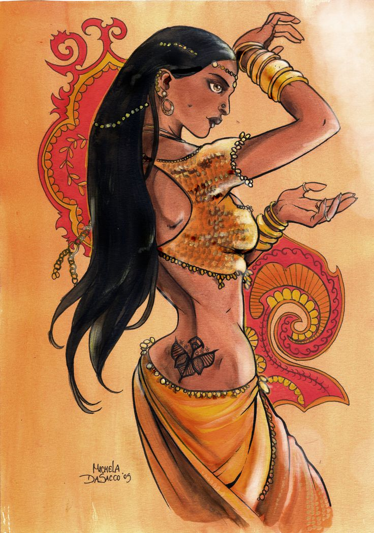 Indian Dance by Michela DaSacco