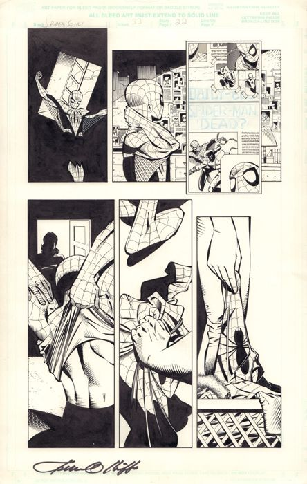 Catawiki online auction house: Pat Olliffe - Original Comic Art - Marvel Comics - Spider-Girl #33 - Page 22 - Signed