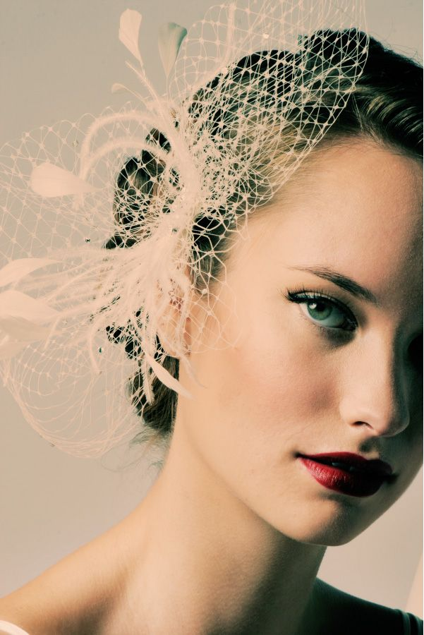 feathers and vintage veils