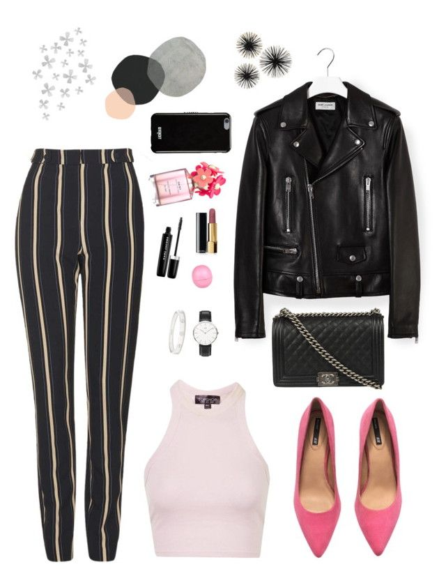 """#3"" by heelsandgo on Polyvore featuring Topshop, Yves Saint Laurent, H&M, Daniel Wellington, Chanel, Givenchy, Cartier, Marc Jacobs, River Island and Dot & Bo"