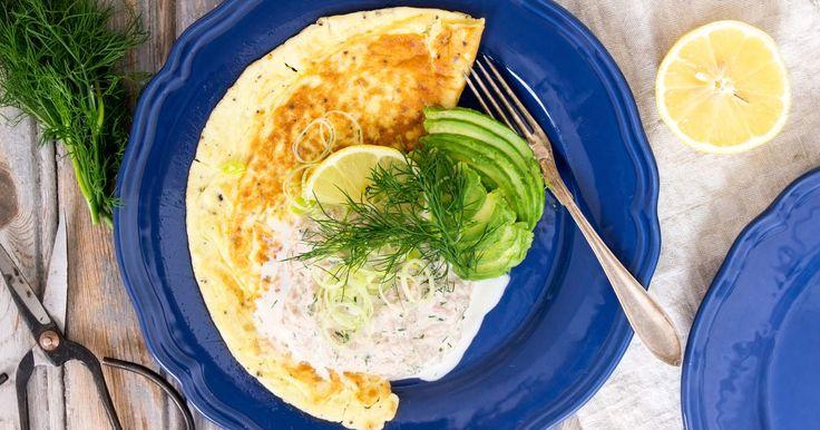 Omelett med tonfiskröra