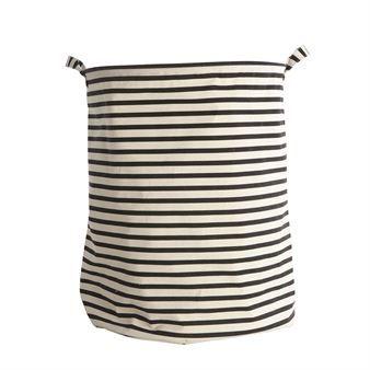 House Doctor laundry bag stripes - black-white - House Doctor