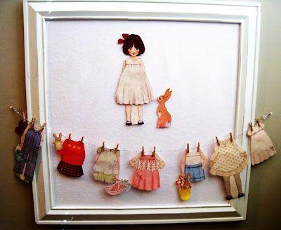 Beautiful presentation of dress up doll! via fourlittlemunchkins
