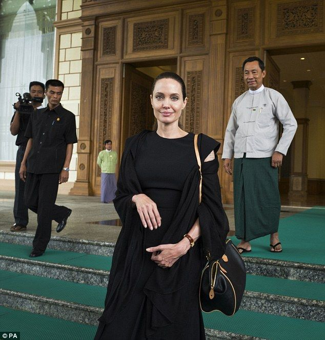 Angelina Jolie takes her human rights crusade to Burma