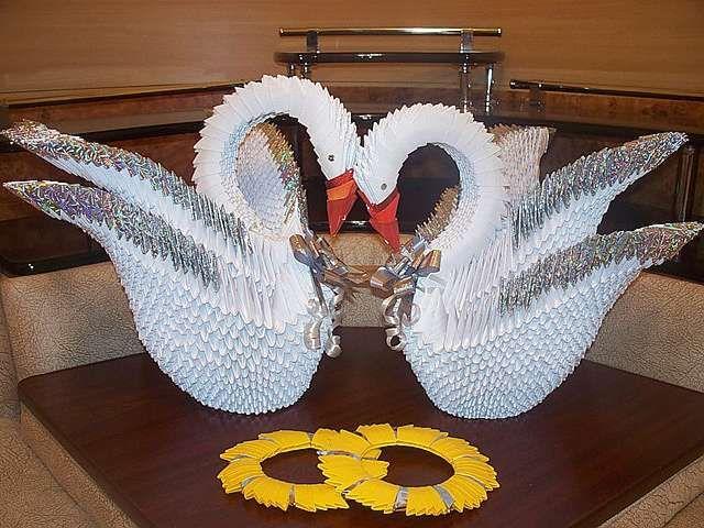 Модульное оригами лебедь для начинающих