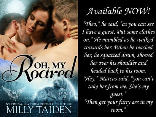 ~ Oh, My Roared by Milly Taiden ~ Amazon US - http://amzn.to/2nmSu1H Amazon UK – https://www.amazon.co.uk/dp/B01N9NZPEM Amazon AU – https://www.amazon.com.au/dp/B01N9NZPEM Amazon CA – https://www.amazon.ca/dp/B01N9NZPEM Paranormal Dating Agency Book 12 -