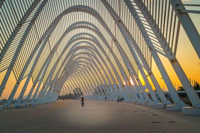 olympic stadium Athens #olympic, #stadium, #Athens, #Greece, #sunset #architecture #sports #Αθηνα, #Ολυμπιακο σταδιο Αθηνας #calatrava #tunnel,