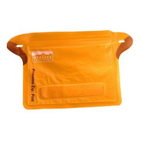 Hyalite Equipment Pneumo Zip Compression Dry Bag - Pint in Solar Orange