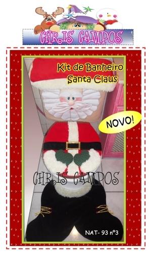 Kit Banheiro Santa Claus