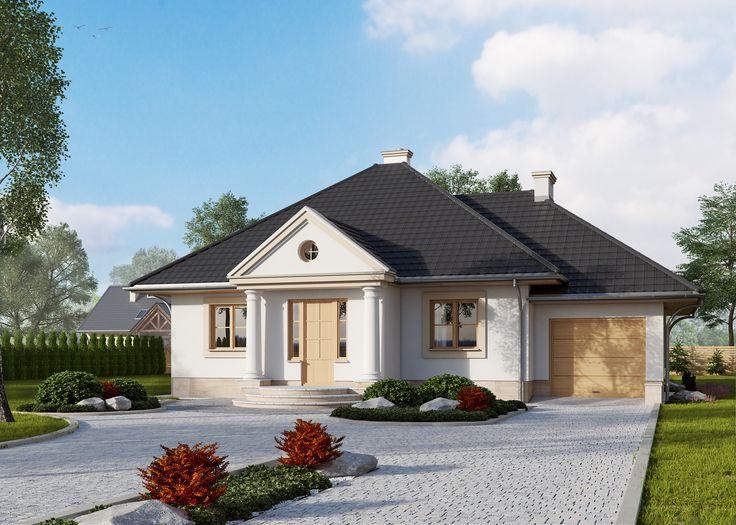 LK&343 - projekt domu jednorodzinnego w stylu dworkowym
