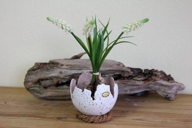 Macetas - Shell de cerámica, concha velas, maceta - hecho a mano por karol-art en DaWanda #DaWanda #hechoamano #diseño #handmade #DIY #plantas #macetas #jardinería #flores #huerto