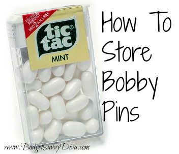 How to Store Bobby Pins | Budget Savvy Diva