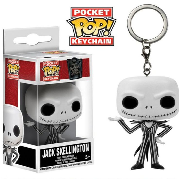 4cm PVC Q Version Jack Skellington Cute Cartoon Key Chain Small Pendant Nightmare Before Christmas Toy Holiday Gifts Ornament #Affiliate