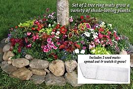 tree flower mat Flowerpot