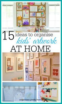 Use the kids artwork as fun decor in your home with any of these gorgeous and simple ideas.  Display the art and craft your children bring home from day care or pre-school.