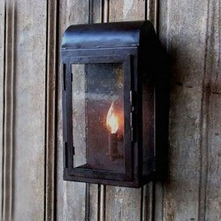 101 Indoor Nautical Style Lighting Ideas: Rustic Iron Wall Lantern Indoor And Outdoor
