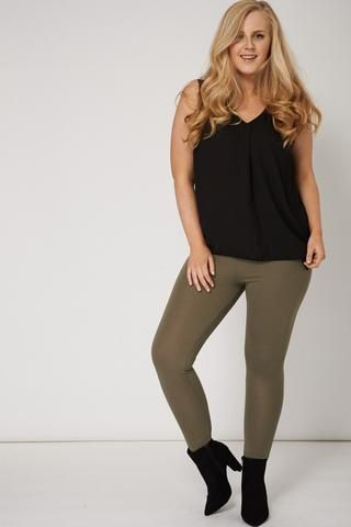 PLAIN KHAKI LEGGINGS