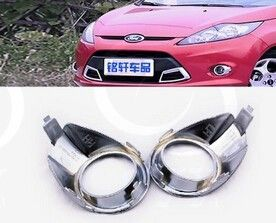 free shipping Car front fog lamps metal decorative cover for ford fiesta 2012 #Affiliate