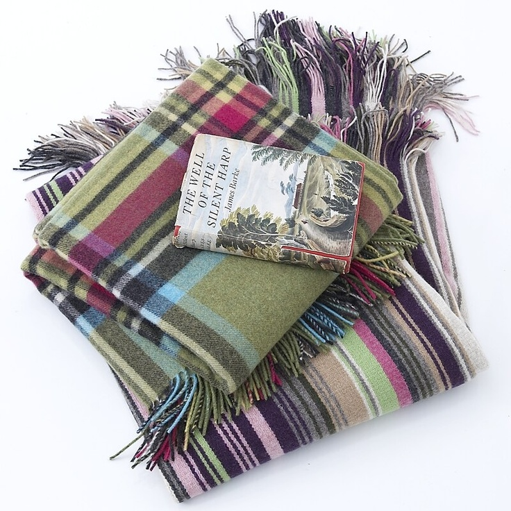 Classic bright plaid and Smithsonian blankets