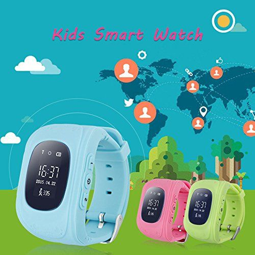 GPS Tracker Smart Watch for Kids with Sim Card Smartwatch Phone Anti-lost Finder SOS Gprs Children Fitness Tracker Wrist Watch Bracelet with Parents Control App for Smartphone (Pink) 24.99  #1)GPS+LBS(Basestationpositioning)dualmodepositioning #2)SOSfunction,twowaycommunication #3)GEOfence #4)Anti-dropalarm #5)Low-batteryalarm6)Realtimetracking #ABT-L.E.D...