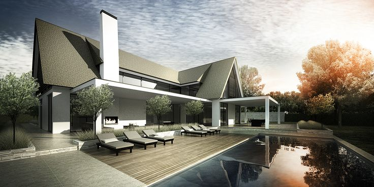 DENOLDERVLEUGELS Architects & Associates / Moderne rietgedekte villa Belgie